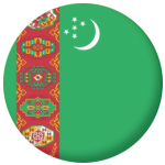 Turkmenistan Country Flag 58mm Button Badge